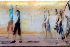 POSSIBILITA' URBANE 100x60 cm  private collection mixed tecnique on canvas and  on plexiglas above