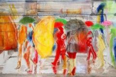 NATURALMENTE URBANI 100 X 60 cm private collection mixed tecnique on canvas and  on plexiglas above