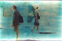 SFARFALLANDO 60X100 cm private collection mixed tecnique on canvas and  on plexiglas above